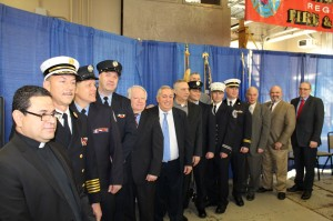 Promoted officers pose with officials